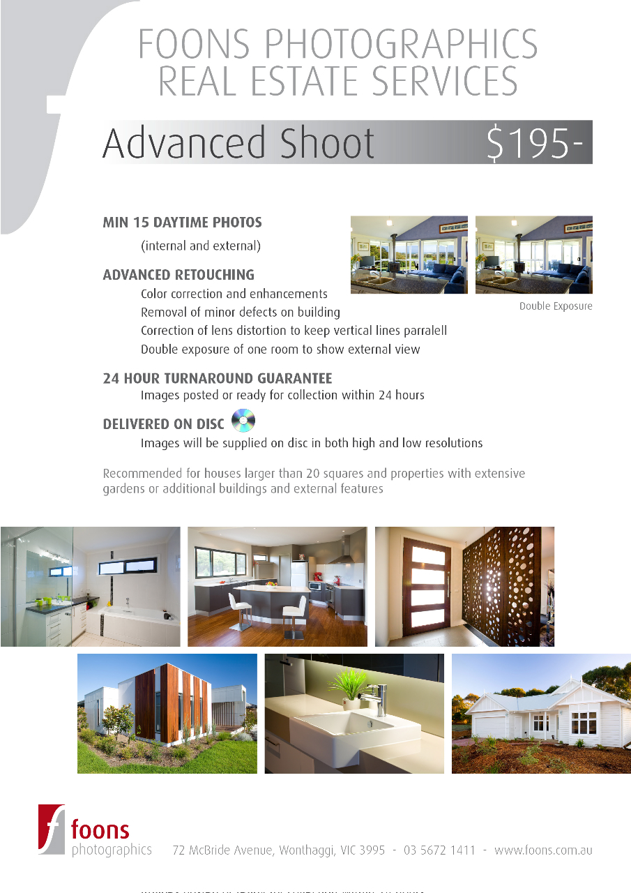 real estate photography flyer